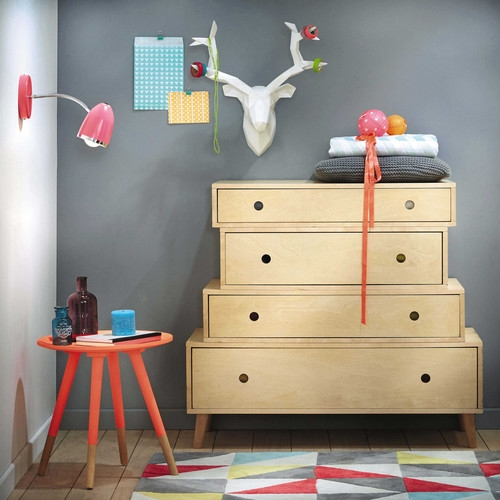 d co murale origami t te de cerf maisons du monde pickture. Black Bedroom Furniture Sets. Home Design Ideas