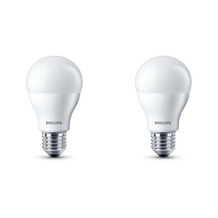 philips lot de 2 ampoules led 60w e27 dimmables philips pickture. Black Bedroom Furniture Sets. Home Design Ideas