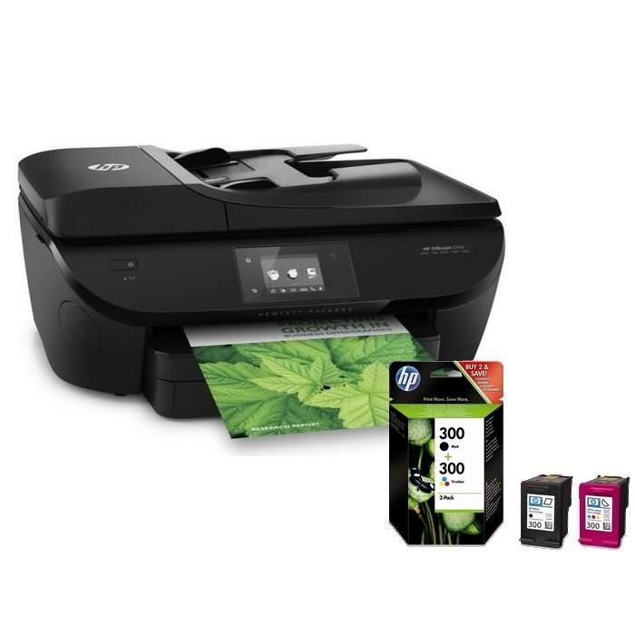 hp officejet 5740 hp pack 2 cartouches hp 300 hp. Black Bedroom Furniture Sets. Home Design Ideas