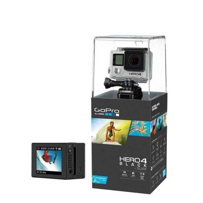 gopro hero4 black surf gopro ecran lcd gopro pickture. Black Bedroom Furniture Sets. Home Design Ideas