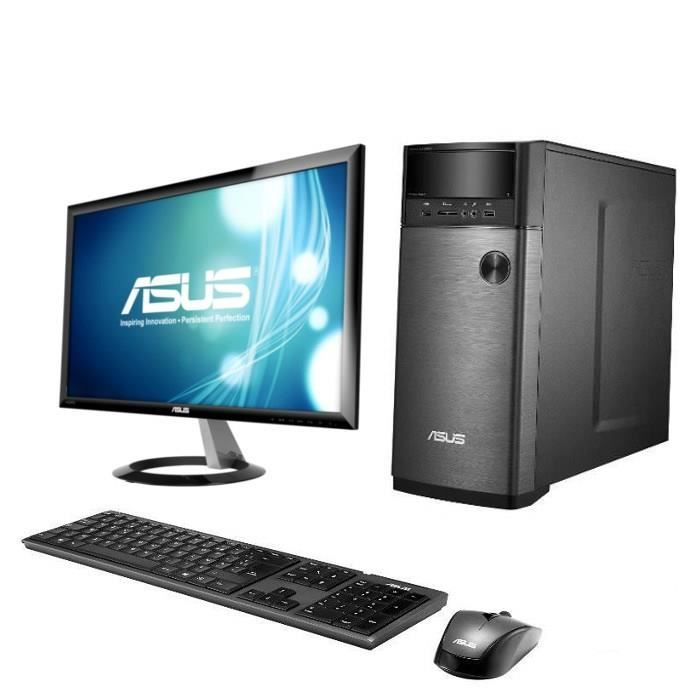 asus pc de bureau m12ad fr004s asus ecran 23 asus pickture. Black Bedroom Furniture Sets. Home Design Ideas