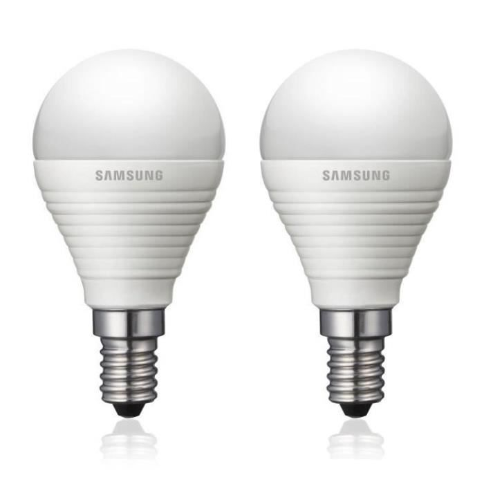 samsung lot de 2 ampoules led type bulbe e14 20w samsung pickture. Black Bedroom Furniture Sets. Home Design Ideas