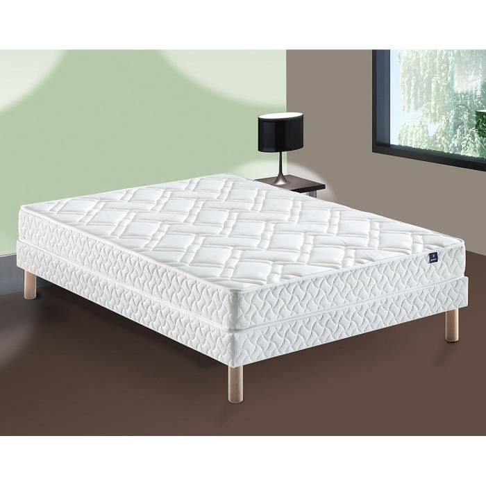 merinos oh ensemble matelas sommier 160x200 merinos. Black Bedroom Furniture Sets. Home Design Ideas