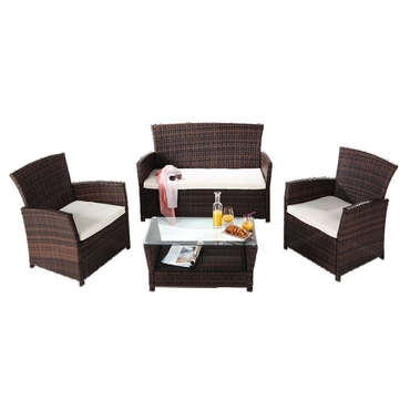 salon de jardin rhodes coloris marron conforama pickture. Black Bedroom Furniture Sets. Home Design Ideas
