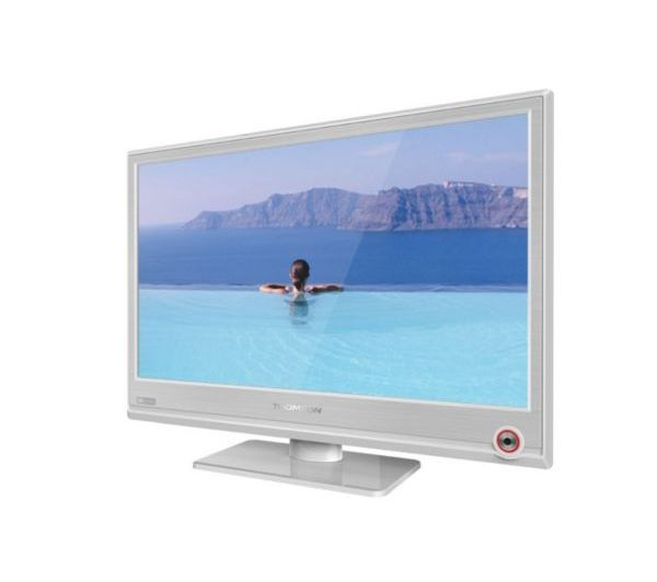 T l viseur led 19hu5253w blanc 48cm thomson pickture - Televiseur led blanc ...