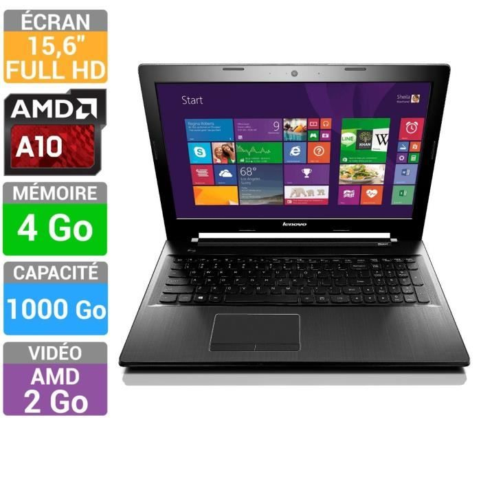 lenovo pc portable ideapad z50 75 amd a10 15 6 lenovo pickture. Black Bedroom Furniture Sets. Home Design Ideas