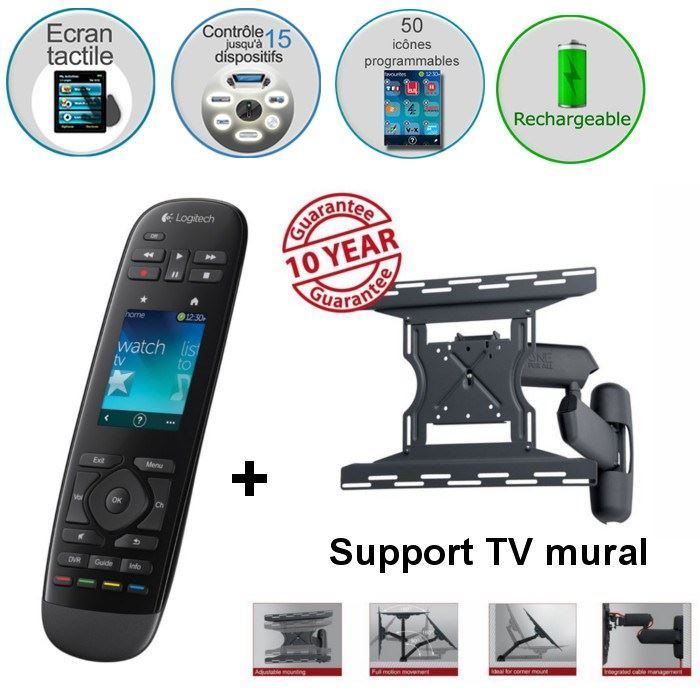 logitech touch support mural tv lcd logitech pickture. Black Bedroom Furniture Sets. Home Design Ideas