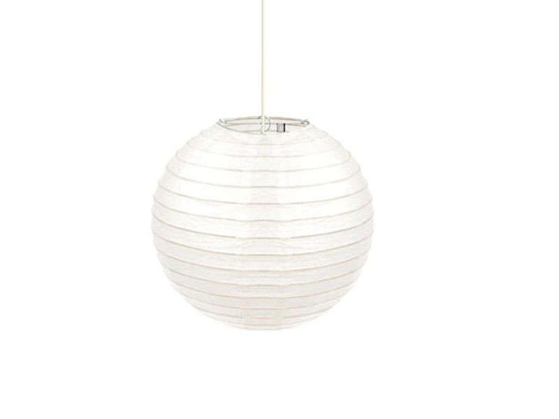 Suspension en papier armature bambou coloris blanc conforama pickture - Ikea suspension papier ...