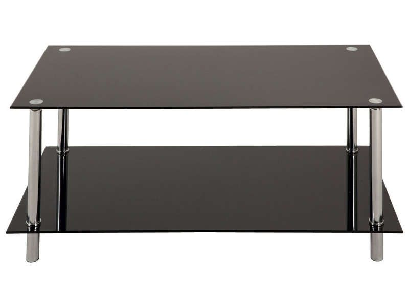 table basse rectangulaire en verre happy conforama. Black Bedroom Furniture Sets. Home Design Ideas