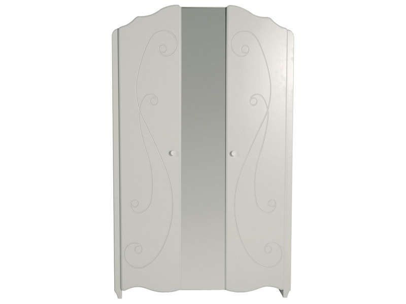 Armoire 2 portes alice coloris blanc conforama pickture for Chambre fille blanche conforama