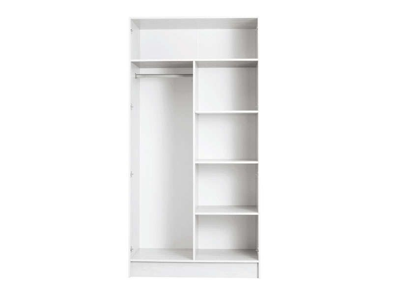 caisse armoire 2 portes prado coloris blanc conforama. Black Bedroom Furniture Sets. Home Design Ideas