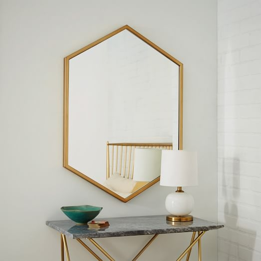miroir hexagone west elm pickture