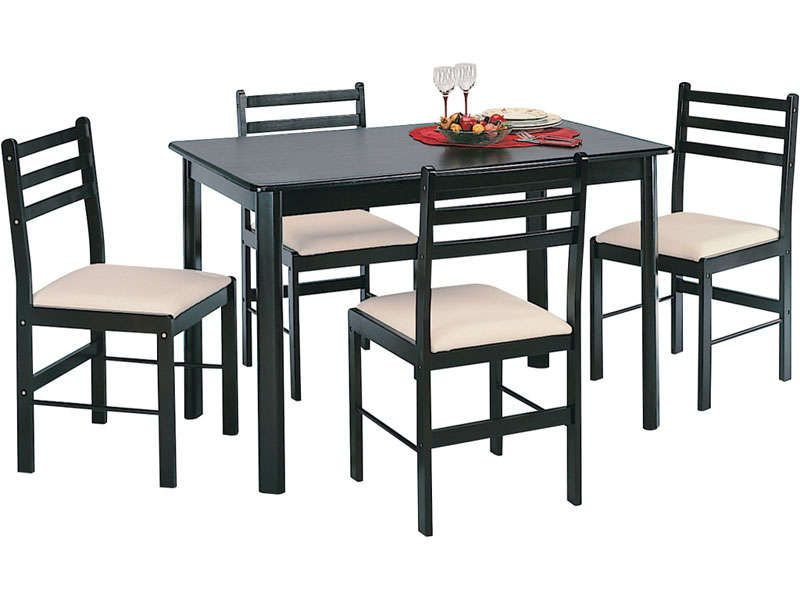 Ensemble table 4 chaises new quatro dark conforama for Table 4 chaises conforama