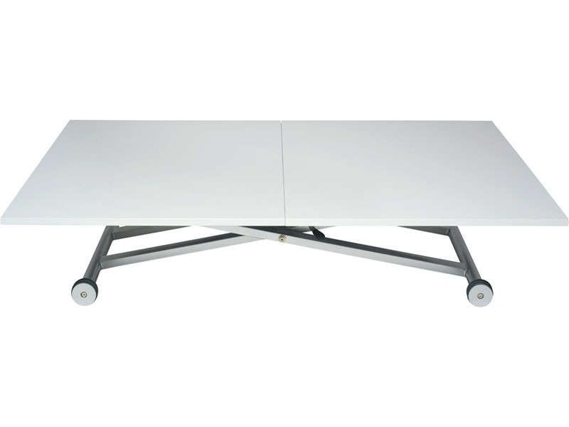 Table rectangualaire hauteur ajustable lift conforama - Table basse rehaussable ...