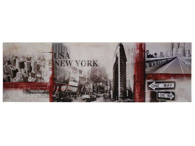 Toile 140x45 cm ny conforama pickture for Bureau new york conforama