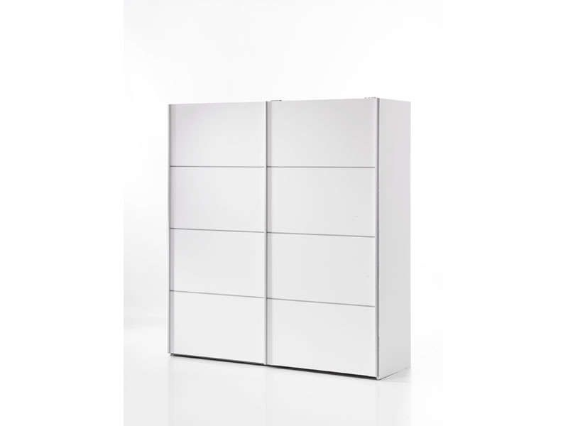 armoire 2 portes coulissantes verona coloris blanc. Black Bedroom Furniture Sets. Home Design Ideas