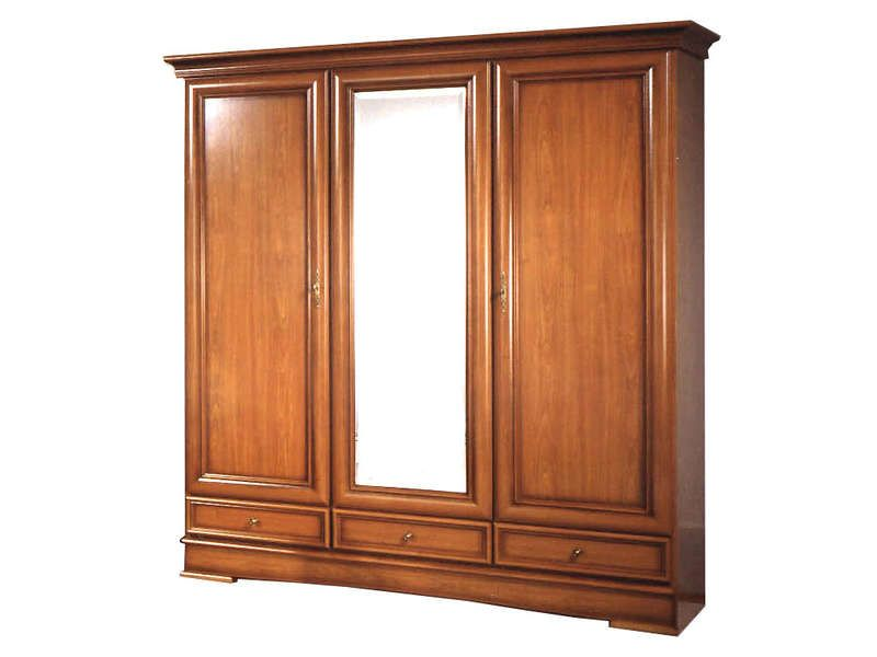 armoire 3 portes dont 1 porte miroir 3 tiroirs conforama pickture. Black Bedroom Furniture Sets. Home Design Ideas