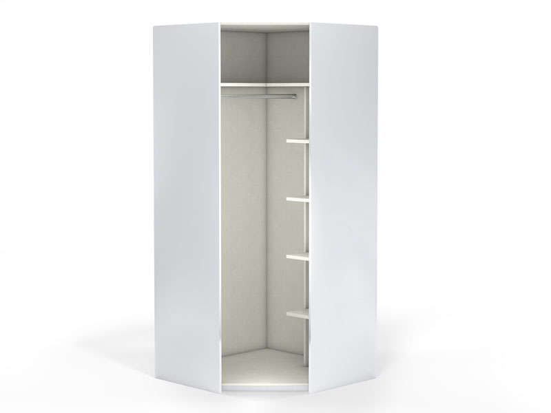 Angle 1 porte 100 cm no limit coloris blanc conforama - Armoire penderie angle ...