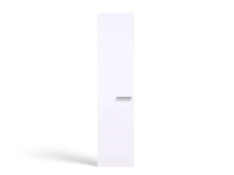 Porte 50 cm no limit coloris blanc conforama pickture for Bureau 50 cm de largeur