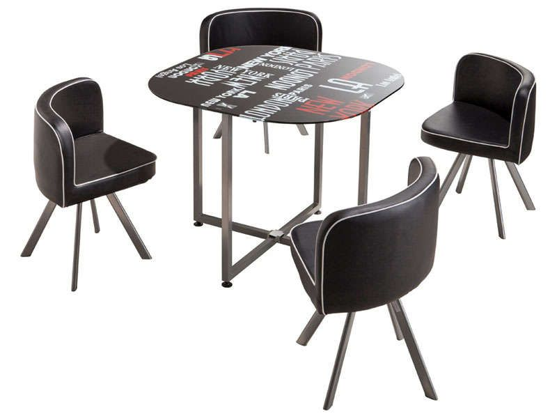 Set 1 table 4 chaises town conforama pickture for Table 4 chaises conforama