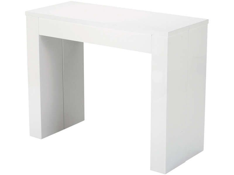 table rectangulaire peninsule coloris blanc conforama pickture. Black Bedroom Furniture Sets. Home Design Ideas