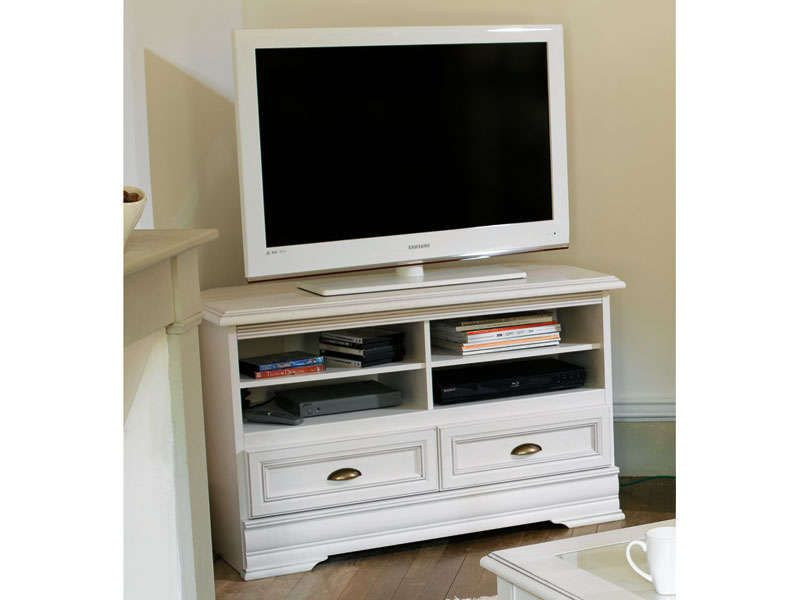 Meuble tv d 39 angle elise conforama pickture - Meuble tv angle blanc ...