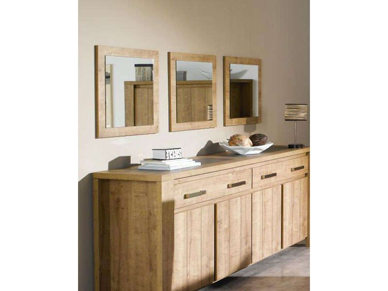 Miroir carr brest coloris ch ne conforama pickture for Miroir conforama