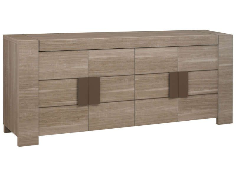Buffet 4 portes atlanta coloris bois conforama pickture for Salle a manger atlanta conforama