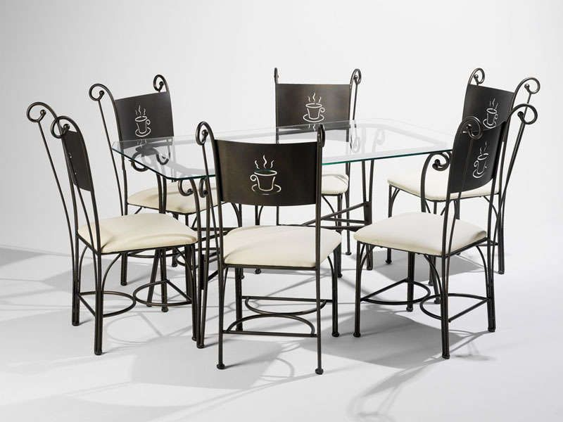 ensemble table rectangulaire 6 chaises cafe conforama pickture. Black Bedroom Furniture Sets. Home Design Ideas