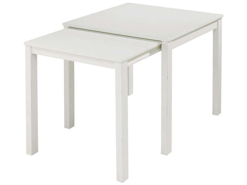 Table rectangulaire bridge coloris blanc conforama - Table de bridge pliante ...