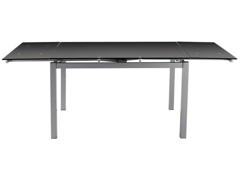 Table tokyo 3 coloris noir conforama pickture for Table rallonge noire