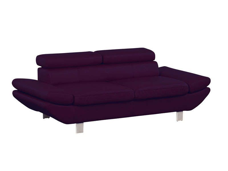 canap fixe 3 places loft coloris aubergine conforama. Black Bedroom Furniture Sets. Home Design Ideas