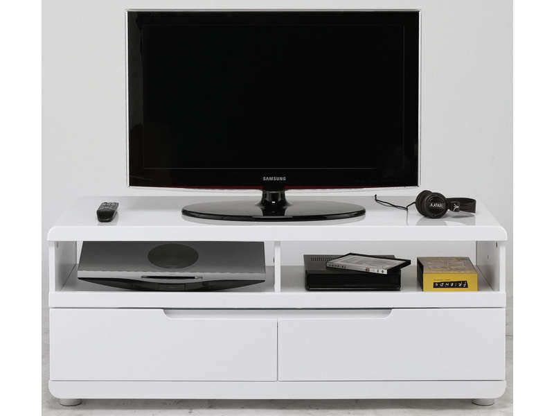 Meuble tv bel air coloris blanc conforama pickture for Meuble tv 100 cm longueur