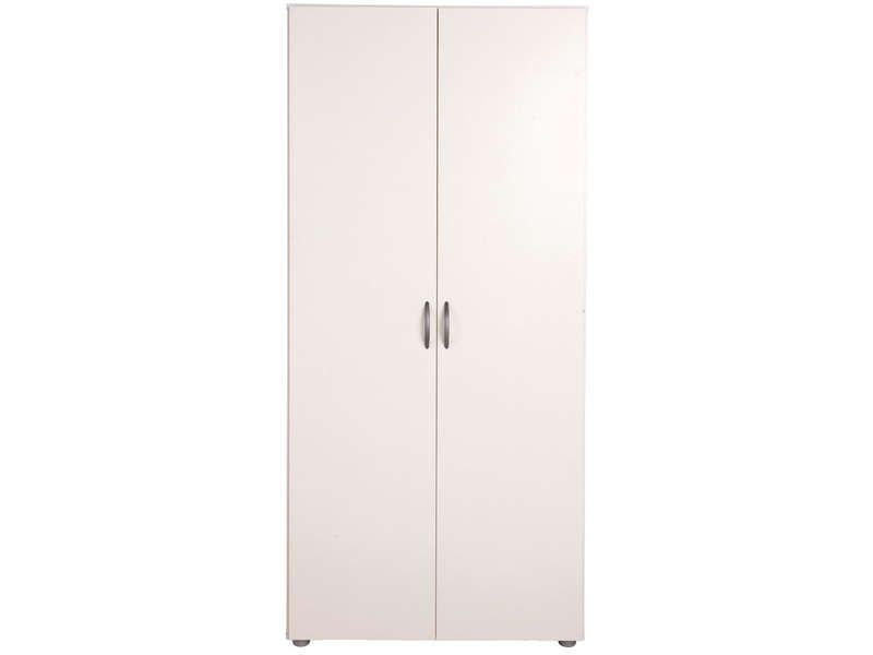 Armoire 2 portes zippie 2 coloris blanc conforama pickture for Armoire penderie blanc conforama