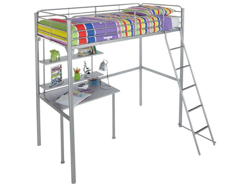 Lit mezzanine 90x190 cm new line 4 coloris gris conforama pickture Lit mezzanine original