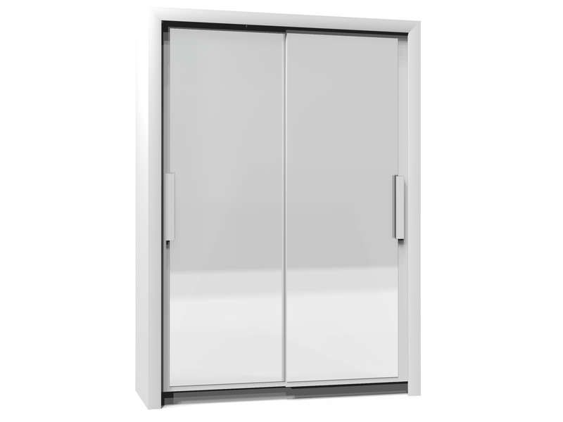 armoire 2 portes l154 cm perfect coloris blanc conforama pickture. Black Bedroom Furniture Sets. Home Design Ideas