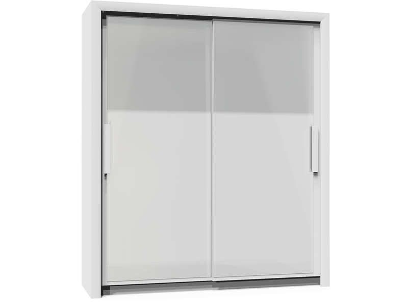 Armoire 2 portes l182 cm perfect coloris blanc conforama for Meuble 2 porte conforama