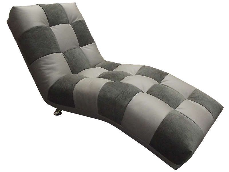 chaise longue isabella coloris gris anthracite conforama pickture. Black Bedroom Furniture Sets. Home Design Ideas