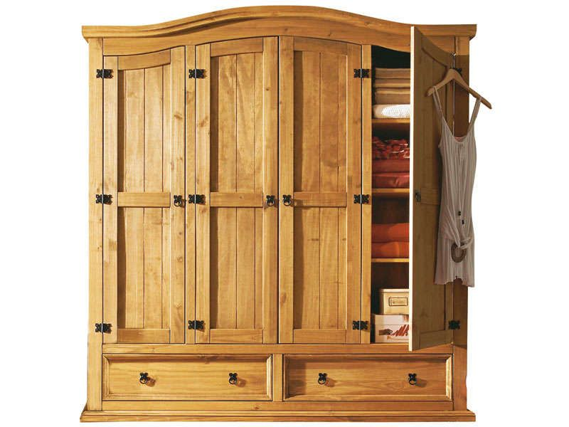 Armoire 4 portes el patio conforama pickture for Armoire bois conforama