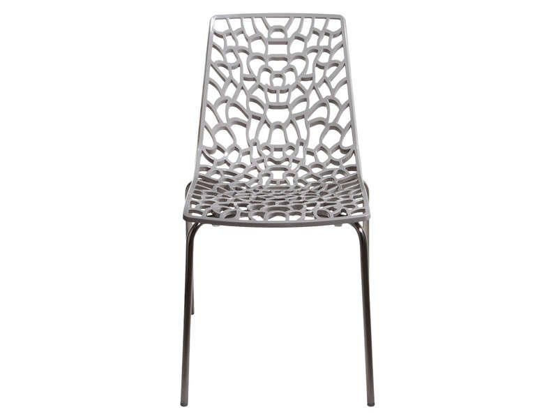 Chaise groove 2 coloris gris conforama pickture - Chaise de cuisine grise ...