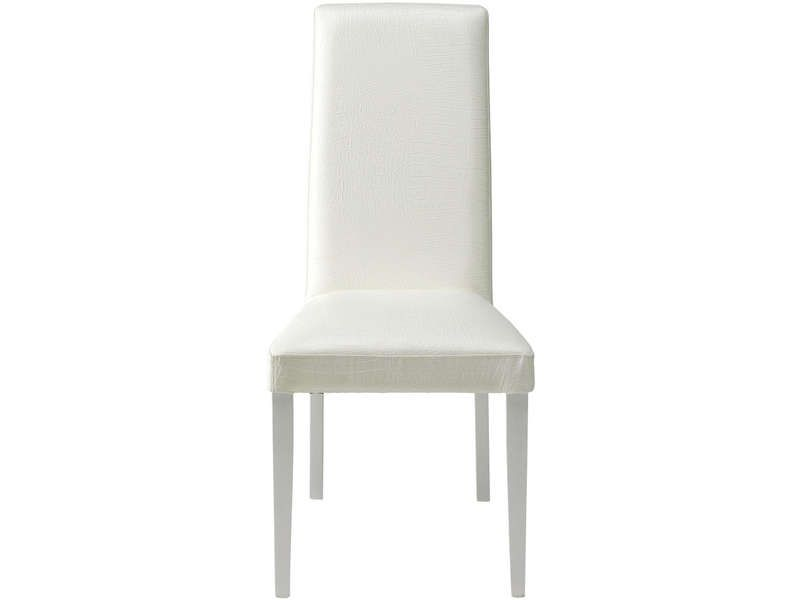 chaise dundee coloris blanc conforama pickture. Black Bedroom Furniture Sets. Home Design Ideas