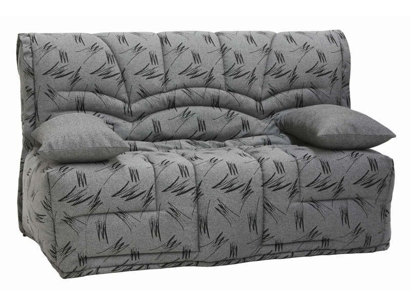 Banquette lit bz guarda coloris gris conforama pickture for Canape lit bz conforama