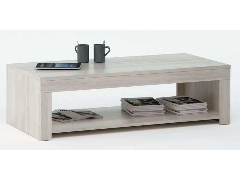 Table basse rubis coloris acacia conforama pickture - Table salon verre conforama ...
