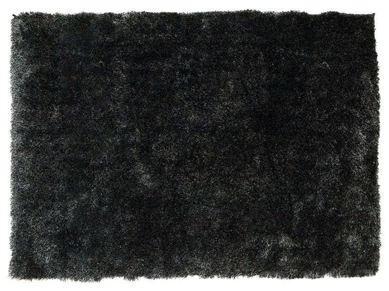 Tapis 120x170 cm glitter coloris noir conforama pickture for Tapis conforama salon