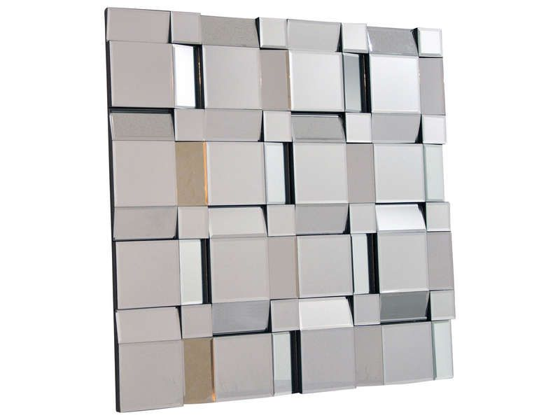 Miroir 80x80 cm mosaique conforama pickture for Long miroir mural pas cher
