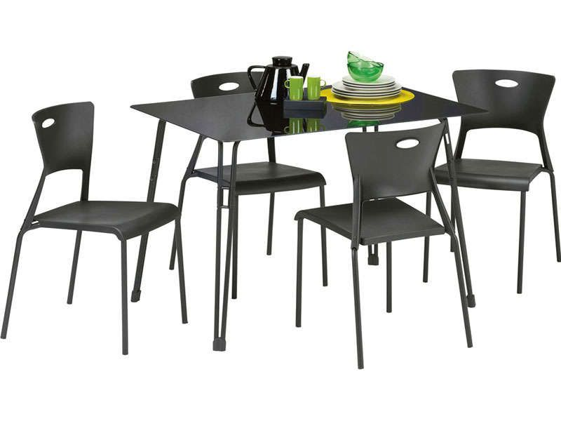 Ensemble table 4 chaises lea conforama pickture - Table en verre conforama ...