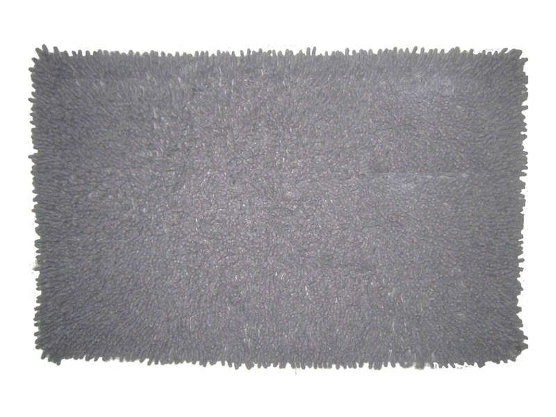 Tapis De Bain 50x80 Cm Shaggy Coloris Gris Conforama Pickture