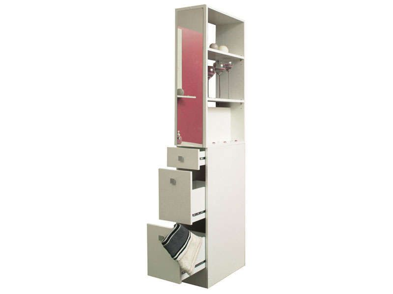 Colonne de s paration esther coloris blanc conforama for Etagere salle de bain conforama