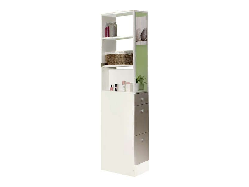 Colonne de s paration esther coloris blanc taupe - Machine a laver sechante conforama ...
