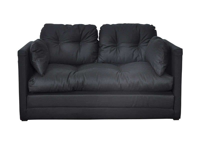 Canap convertible 2 places pillo coloris noir conforama - Canape convertible 2 places ...